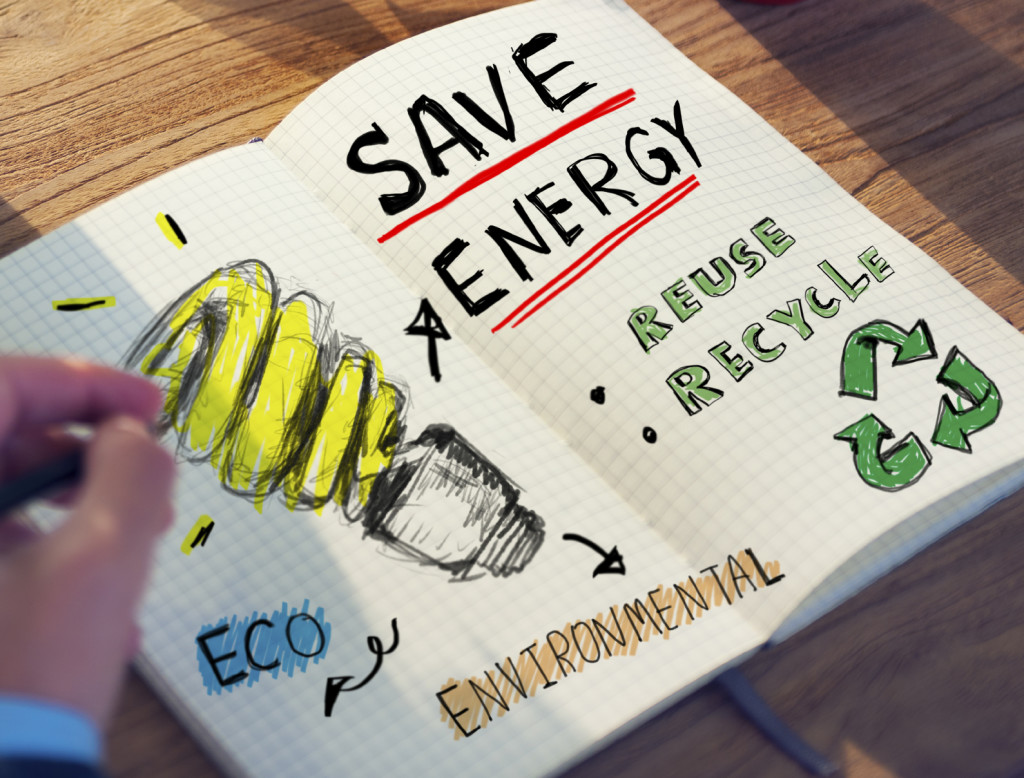 Businessman with Energy and Environmental Concept
