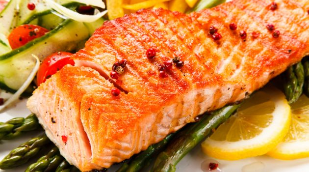 Salmon with Red Chili Jelly